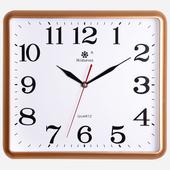 南宫世家静音挂钟简约创意钟表客厅卧室挂表方形石英钟现代时钟表