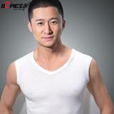 夏季韩版纯棉男士背心青年修身型运动紧身健身打底无袖T恤宽肩潮