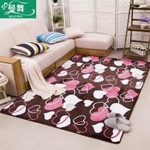 珊瑚绒加厚地毯现代简约卧室客厅茶几沙发满铺床边飘窗长方形地毯