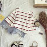 条纹T恤女2017夏季新款韩版学生短袖上衣服原宿风宽松半袖体恤衫