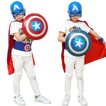 万圣节披风 儿童美国队长服装cosplay复仇者联盟套装 面具 盾牌