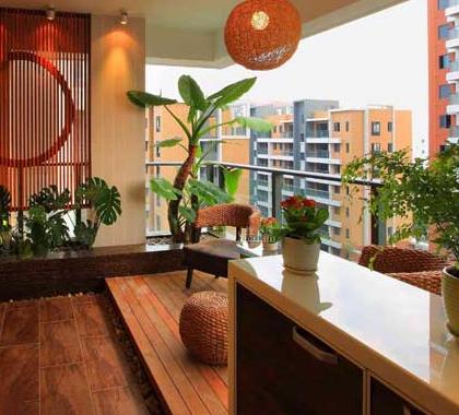 查看淘宝房屋装修阳台家装设计效果图户外空间阳台样板间实景图片设计