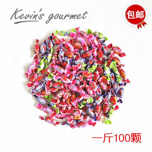 包邮 Tayas塔雅丝多味水果夹心软糖果散装500g土耳其进口结婚喜糖