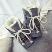 2017冬季新款韩版百搭雪地靴女鞋加绒保暖短筒棉鞋学生平底短靴子