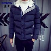 男士外套 冬季2016新款帅气棉服 加厚加绒修身韩版潮流男装棉衣服