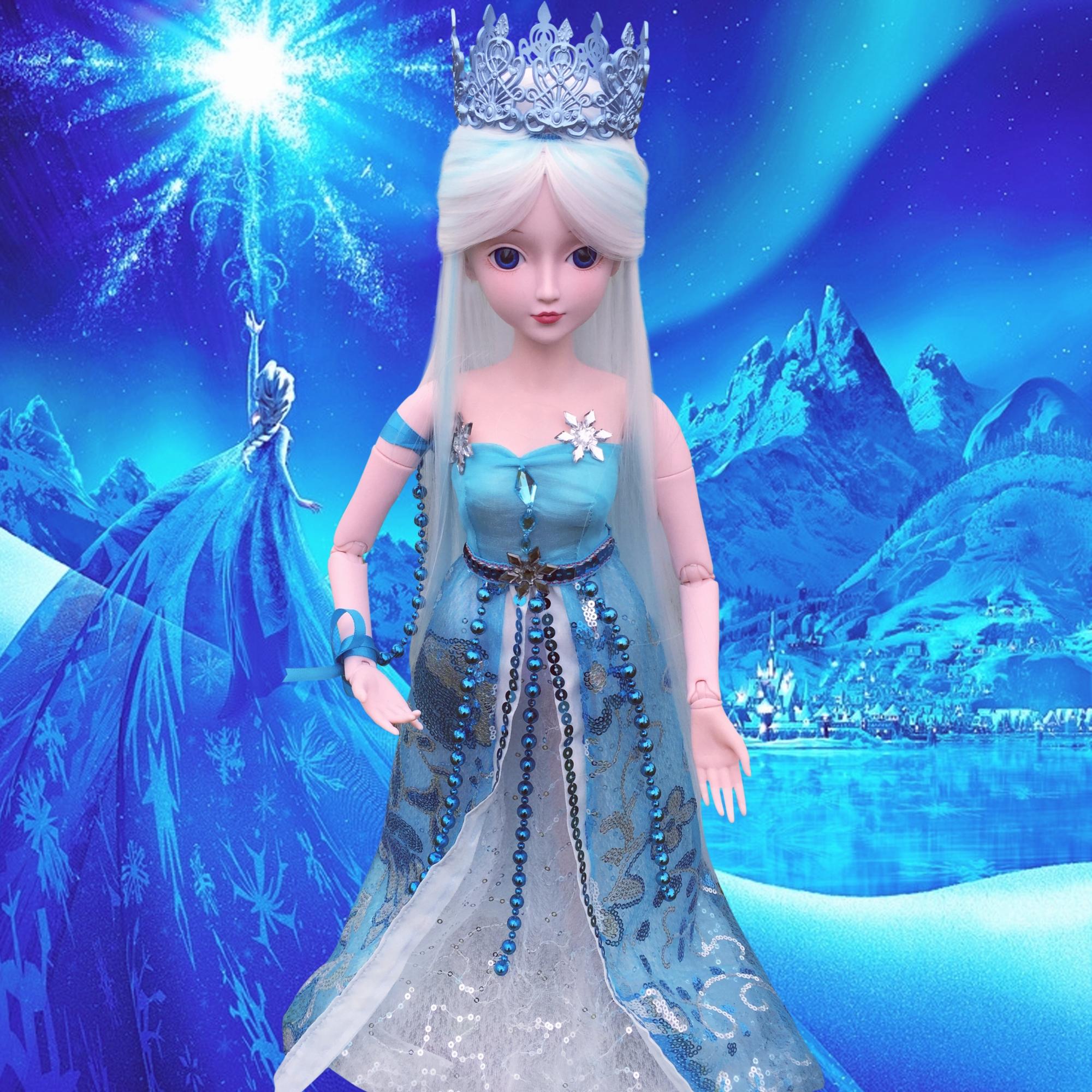 正品叶罗丽仙子冰公主夜萝莉60厘米孔雀仙子白光莹娃娃玩具图片