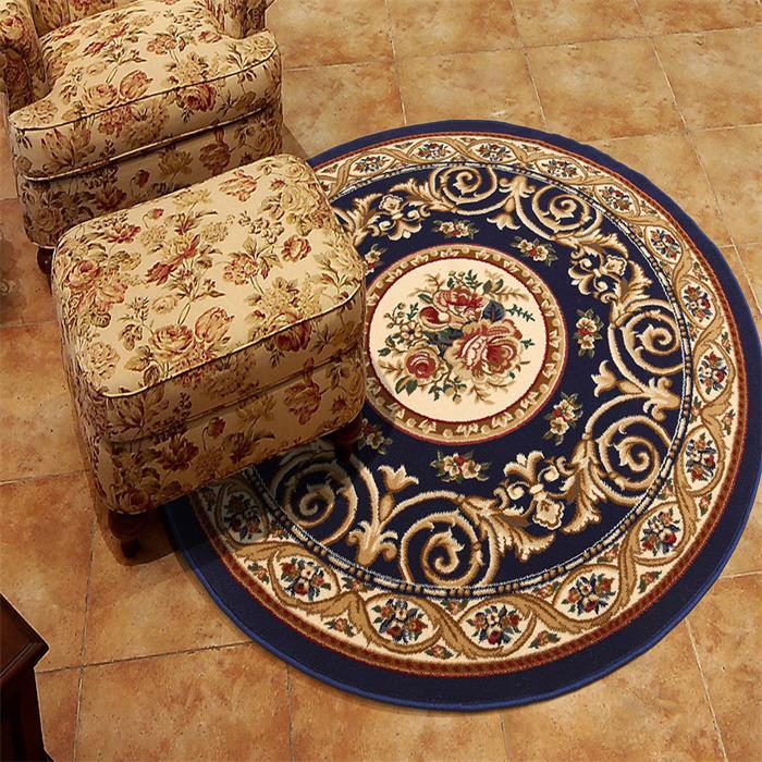 圆形地毯客厅欧式田园卧室沙发床边餐厅茶几地毯电脑