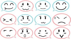 可爱表情组创意笑脸图标 家居卫生间墙贴幼儿园玻璃店铺贴ZY0129