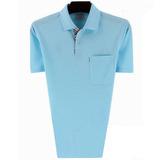 夏季中年男士polo衫短袖大码纯色翻领t恤男长袖纯棉爸爸装上衣
