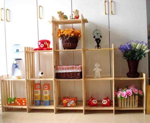 正品宜家创意简易9格架木架子儿童书架置物架层架鞋