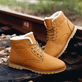 冬季新款韩版保暖男士雪地靴男靴子加绒潮流短筒靴休闲加厚棉鞋男