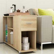 可移动长方形大桶水茶几沙发边柜边几角几电话几书架墙角置物架