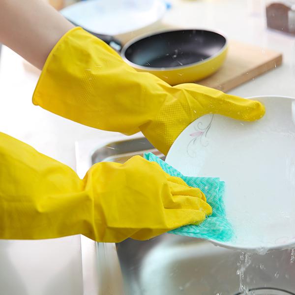 薄款乳胶清洁手套厨房耐用洗碗胶皮家用洗衣服防水家务手套