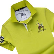名鼠 专柜同款新品 翻领短袖t恤男半袖青老年纯色polo衫体恤大码