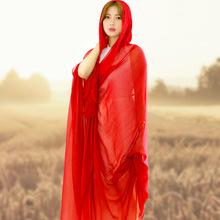 【天天特价】2米4超大纯色丝巾围巾披肩两用秋冬季长款旅游纱巾