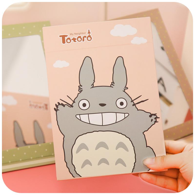 韩式卡通可爱折叠台式大号化妆镜子