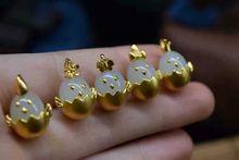 老凤祥黄金镶嵌和田白玉生肖鸡项链吊坠满月生日礼物专柜礼盒直邮图片