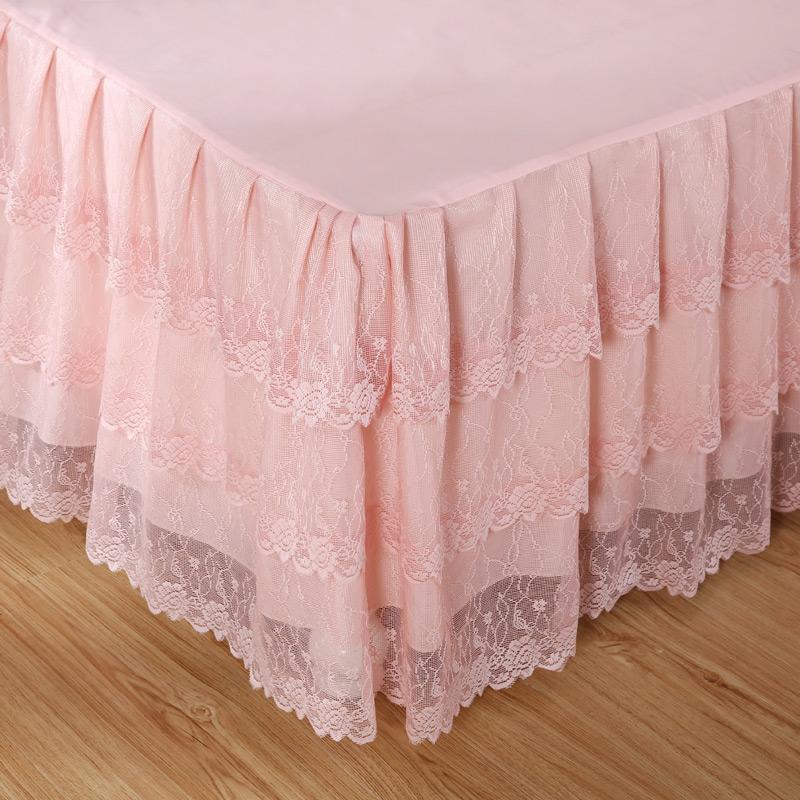 韩版蕾丝床罩床裙单件公主风1.5m1.8米2.0单双人席梦思保护套夏季