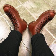 马丁鞋 手工2996阿美咔叽英伦复古美式机车伞兵短脸靴男真皮工装