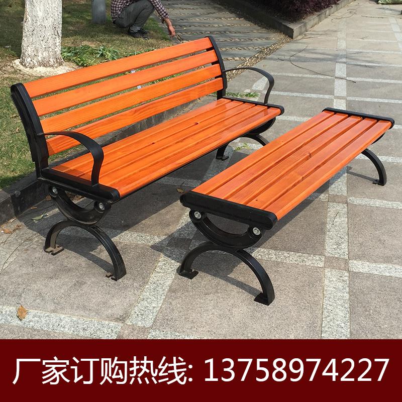 双人防腐塑木公园长椅子园林休闲座椅户外阳台休闲椅