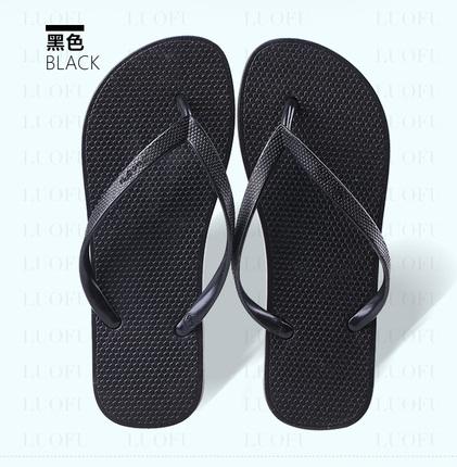 2016罗敷橡胶纯色人字拖女士休闲男凉拖鞋女夏夹脚防滑平底沙滩鞋