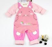 卡乐吉瑞比 新款 2014秋装女宝宝秋装 娇娇鼠背带夹衣套装