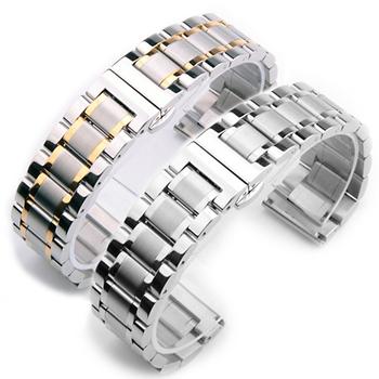 精钢手表链22男女16钢表