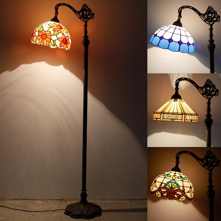 欧式创意时尚蒂凡尼钓鱼落地灯卧室书房客厅酒店田园