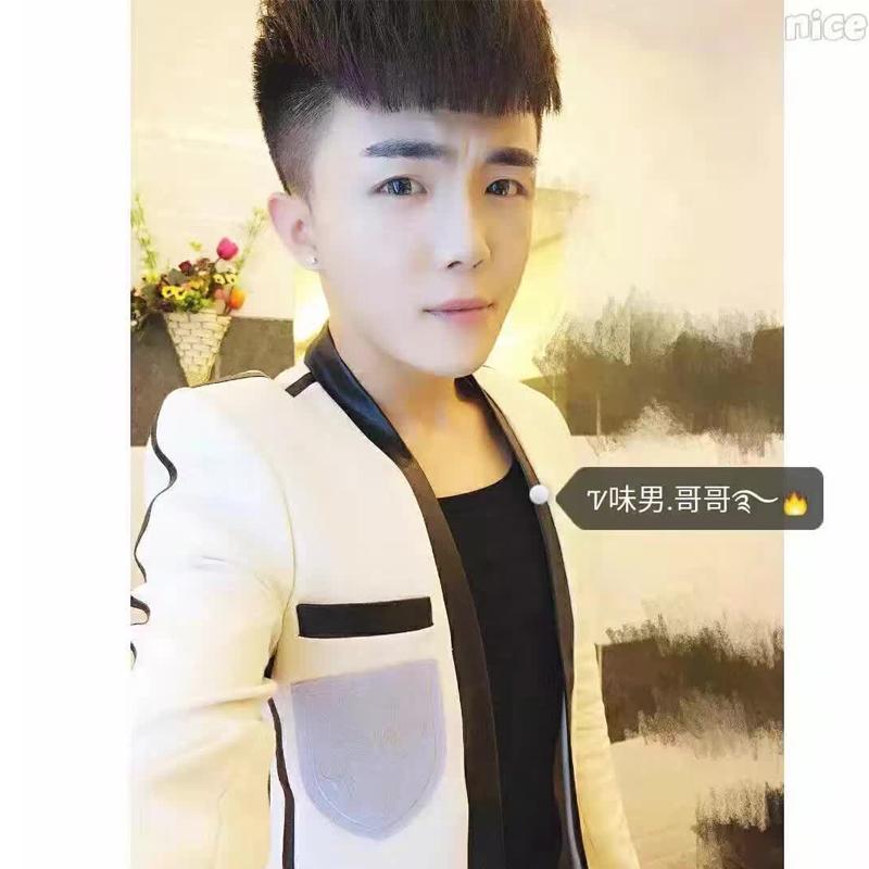 2017指男针男士韩版西服外套修身明星同款休闲西装男礼服小西装潮