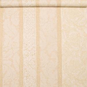 进口壁纸欧式花型美式竖条纹合璧