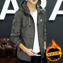 男士外套加绒加厚冬季2017新款个姓韩版潮流学生帅气百搭运动夹克