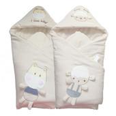 婴儿抱被纯棉宝宝新生儿秋冬款可脱胆包被彩棉抱毯春秋季婴儿用品