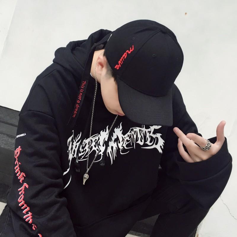 帽子男潮秋冬时尚棒球帽带环青年休闲鸭舌帽韩版街头个性百搭情侣