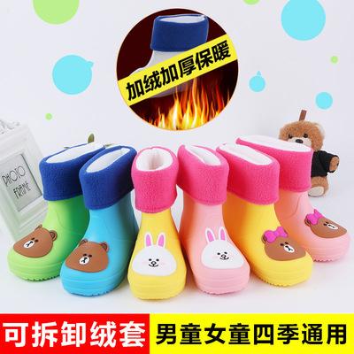 宝宝小孩儿童雨鞋男童女童雨靴防滑中大童小童小学生水鞋幼儿胶鞋