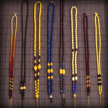 蜜蜡吊坠链子 琥珀项链挂绳毛衣