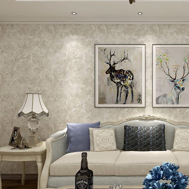 美国原装进口纯纸壁纸 美式客厅沙发背景墙 卧室印花墙纸家用 jx