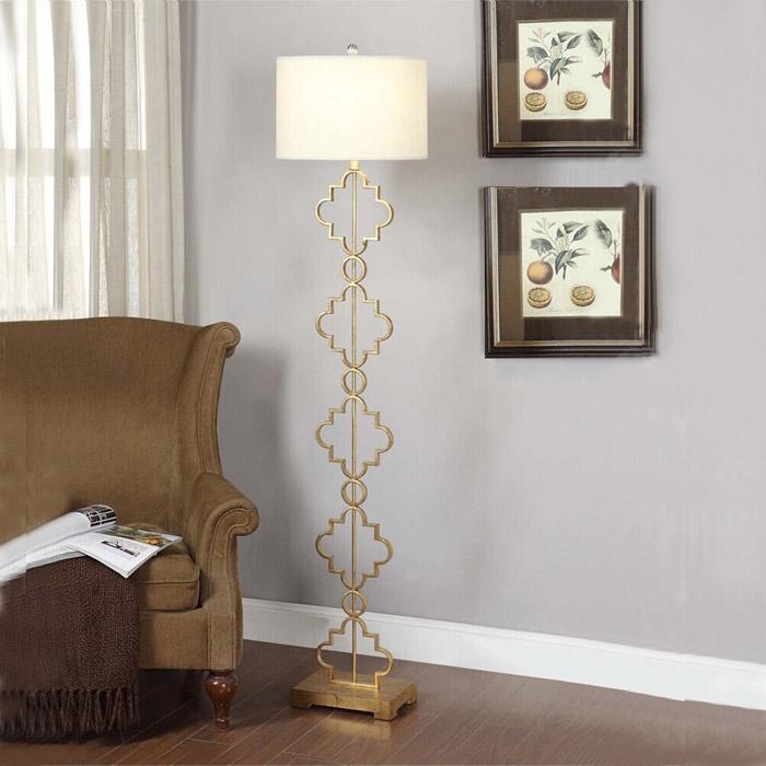 落地灯法式简约客厅沙发书房卧室金色欧式节能落地灯