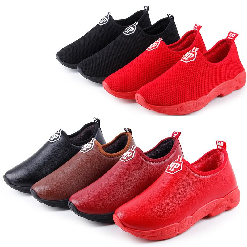 16冬老北京布鞋女棉鞋中老年妈妈鞋保暖防滑软底奶奶鞋短靴子棉靴