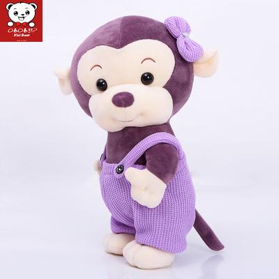 嘻嘻熊 猴子毛绒玩具布艺小玩偶公仔生日礼物猴年吉祥物送女生