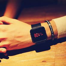 韩版简约LED智能电子手表潮流新款个性情侣 学生运动硅胶男女创意