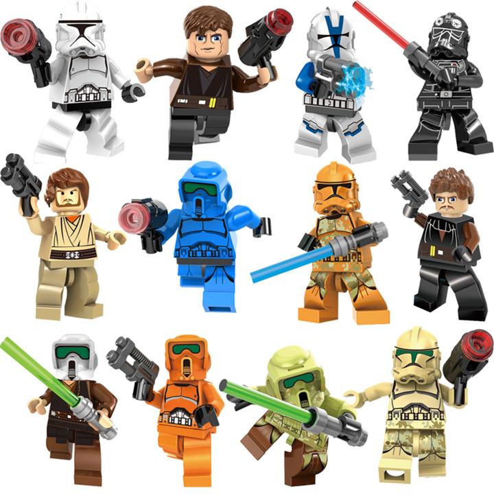 乐高星球大战积木人仔12款彩盒套装 儿童热销动漫益智积木玩具