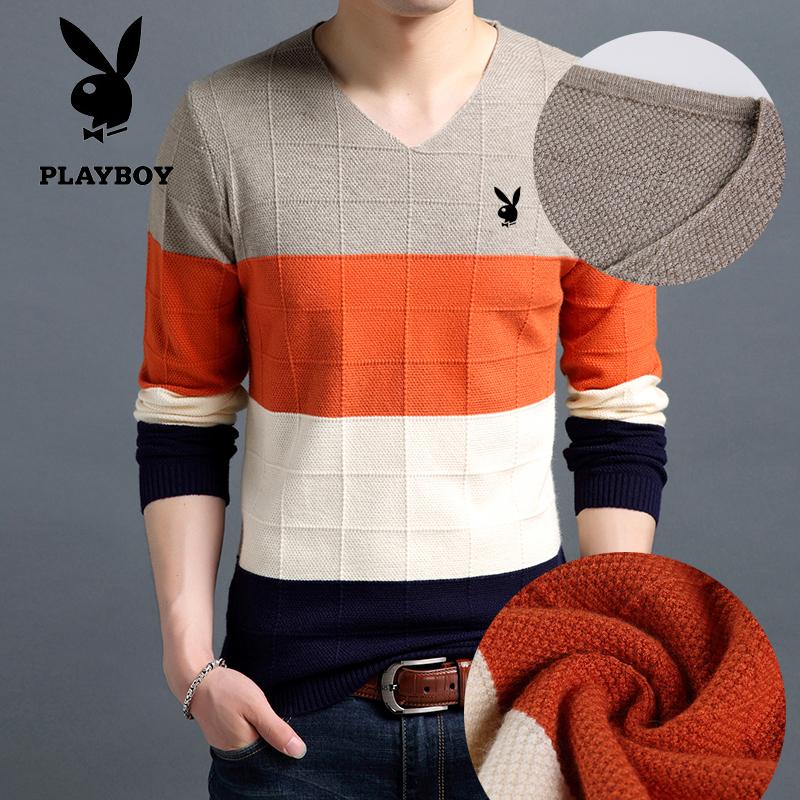 打底毛衣男士套头修身羊毛衫秋冬季青年针织长袖