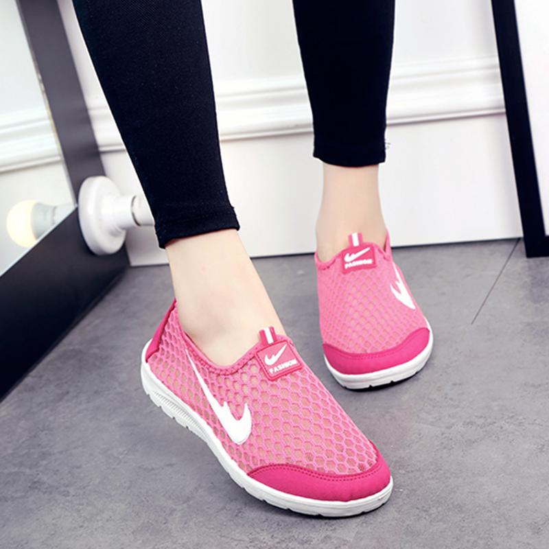 休閑鞋中老年低幫軟底運動鞋舒適夏季布鞋媽媽懶人