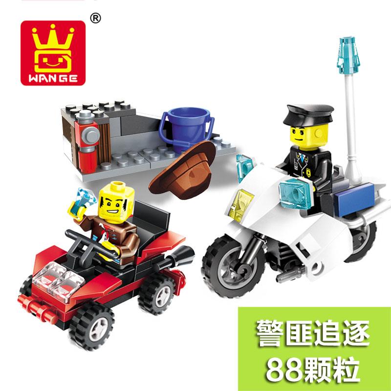儿童玩具拼装乐高积木积木兼容城市车位置警匪仿真组合警车3-8岁模型的警察是实时更新的么图片