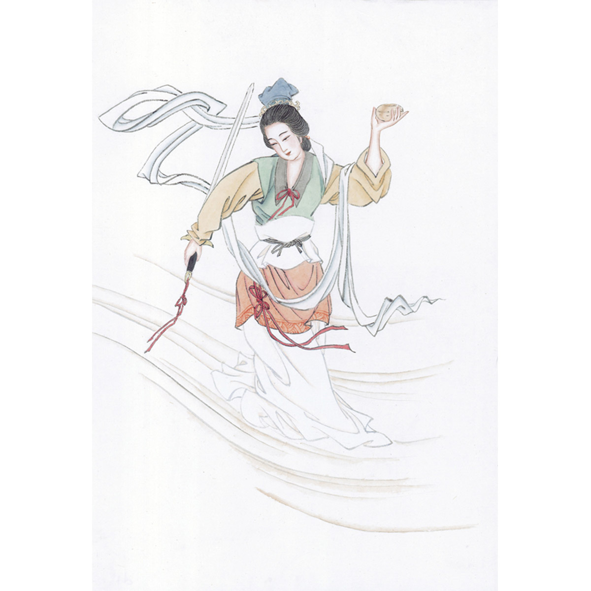 )3(46-66006_shinvhua3仕女图佚名近现代人物画古装美女