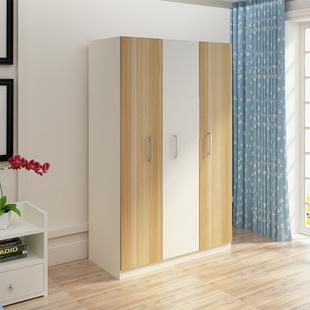 【特价】欧式衣柜实木雕花古典烤漆卧室3门组装衣柜