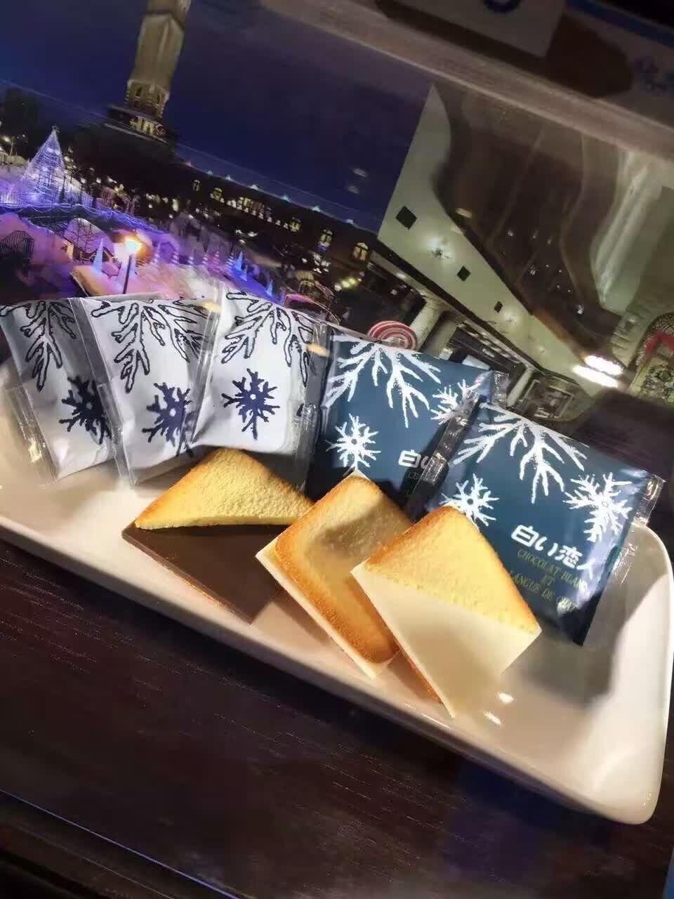 枚恋人女友礼物 18 日本北海道白色恋人白巧克力夹心饼干 现货