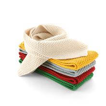 小儿童针织围脖秋冬韩版男毛线围巾冬季纯色保暖24个月女婴儿冬装