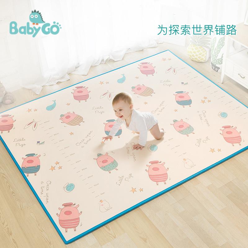 babygo进口宝宝爬行垫加厚爬爬垫环保婴儿童爬行垫XPE游戏地垫