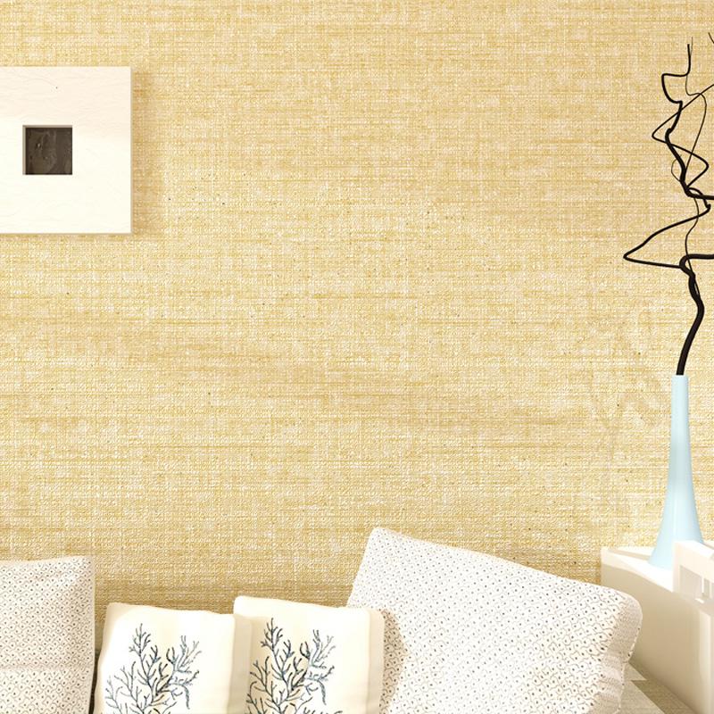 纯色素色无纺布工程酒店宾馆墙纸 现代简约卧室客厅背景亚麻壁纸